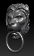 Lion head doorknocker